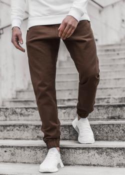 Чино панталон в кафяв цвят
