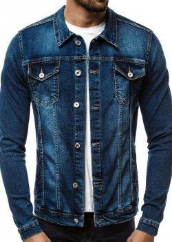 Дънково яке в син цвят