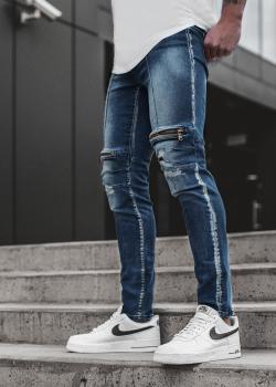 Дънки в син цвят с джобове