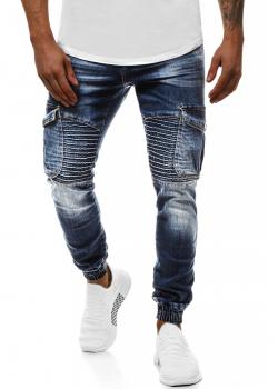 Дънки в син цвят с джобове отстрани