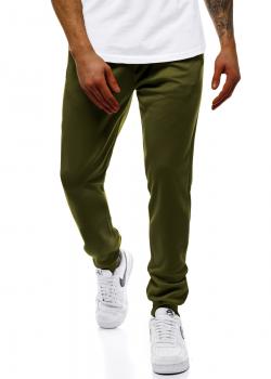 Долнище в зелен цвят