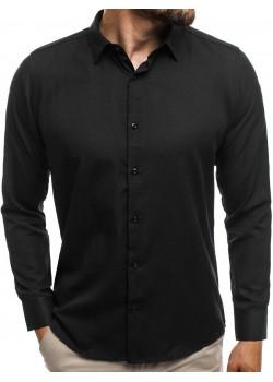 Елегантна риза в черен цвят