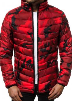 Мъжко пролетно-есенно яке в червен камуфлаж