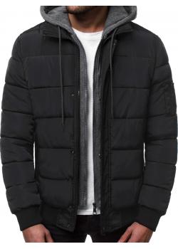 Мъжко зимно яке в черен цвят