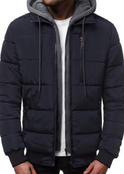 Мъжко зимно яке в тъмносин цвят