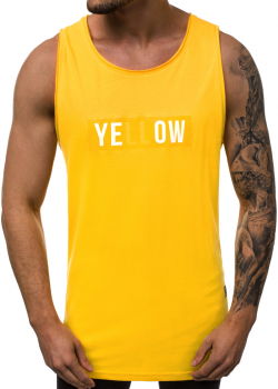 Потник с надпис в жълт цвят