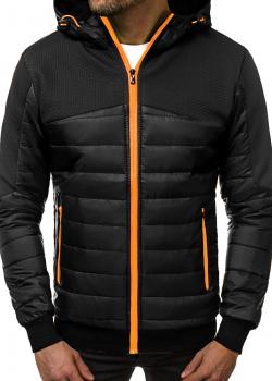 Пролетно-есенно яке в черен цвят с цип