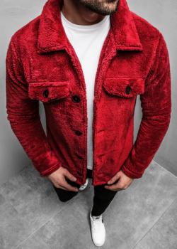 Пролетно-есенно яке в червен цвят