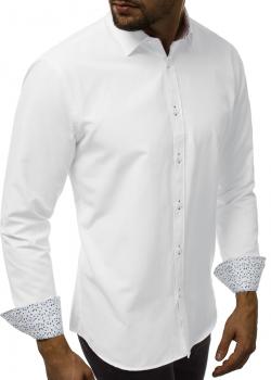 Риза с дълъг ръкав в бял цвят