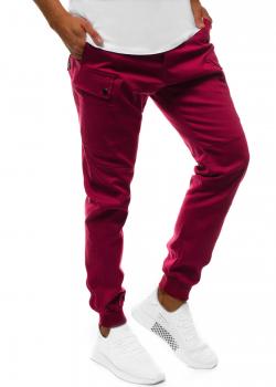 Спортен чино панталон в цвят бордо