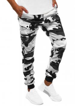 Спортен чино панталон в сив камуфлаж