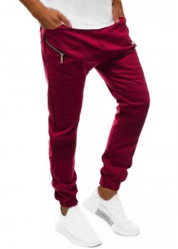 Спортен панталон в цвят бордо Athletic