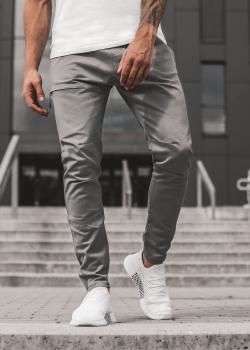 Спортен панталон в цвят графит