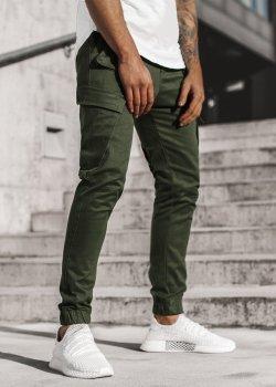 Спортен панталон в цвят каки