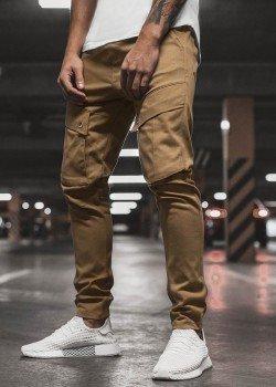 Спортен панталон в цвят камел