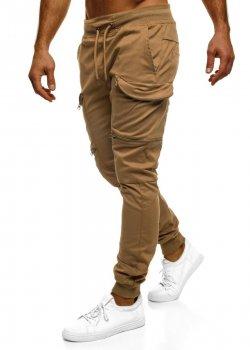 Спортен панталон в цвят камел Athletic