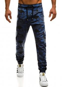 Спортен панталон в син камулаж Athletic