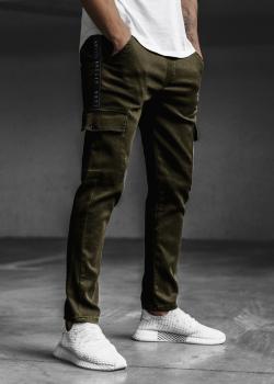 Спортен панталон в зелен цвят