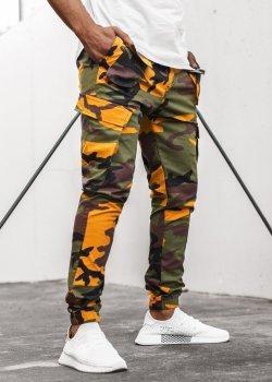 Спортен панталон в зелен камуфлаж