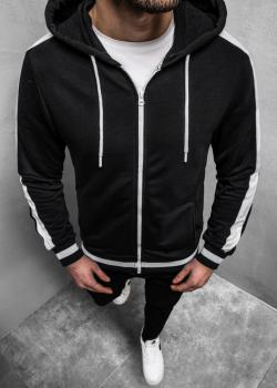 Суичър в черен цвят с цип
