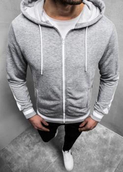 Суичър в сив цвят с цип
