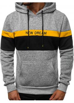 Суичър в сив цвят с надпис NEW DREAM