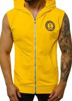 Суичър в жълт цвят без ръкави