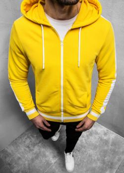 Суичър в жълт цвят с цип