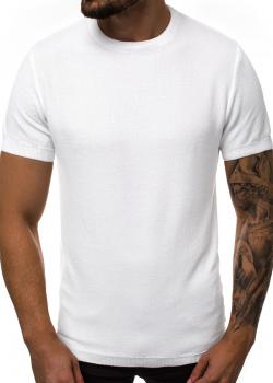 Тениска от фино плетиво в бял цвят