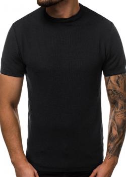 Тениска от фино плетиво в черен цвят