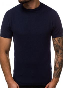 Тениска от фино плетиво в тъмносин цвят