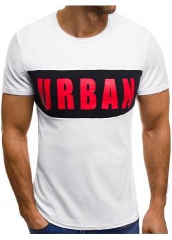 Тениска с надпис Urban в бяло