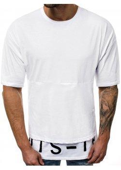 Тениска с надпис в бял цвят