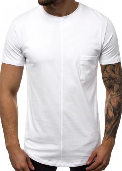 Тениска в бял цвят с джоб
