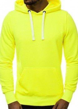 Изчистен суичър в неоново жълт цвят