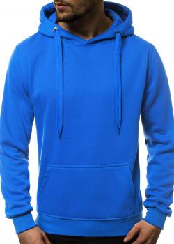 Изчистен суичър в син цвят J. Style