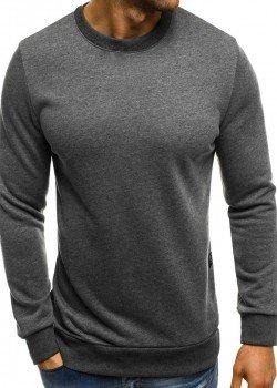 Изчистена блуза в цвят графит