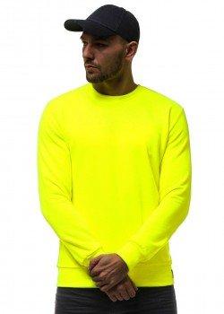 Изчистена блуза в неоново жълт цвят