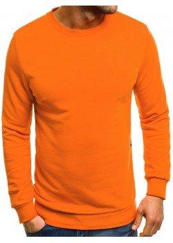 Изчистена блуза в оранжев цвят