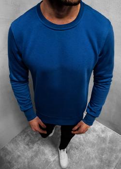 Изчистена блуза в син цвят