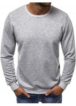 Изчистена блуза в сив цвят