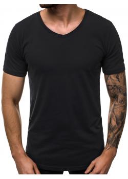 Изчистена памучна тениска в черен цвят