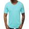 Изчистена тениска с остро деколте в цвят мента