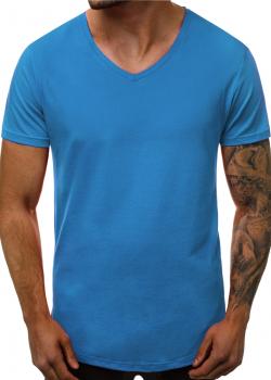 Изчистена тениска в син цвят
