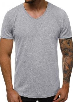 Изчистена тениска в сив цвят
