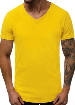Изчистена тениска в жълт цвят
