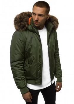 Зимно яке в зелен цвят
